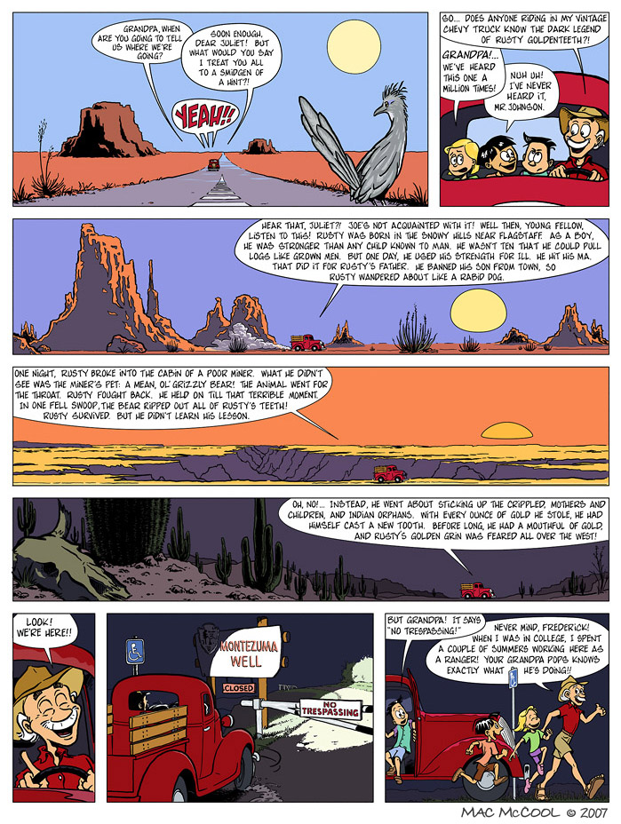Deep in Montezuma, from Arizona, a graphic novel series for children by Mac McCool
